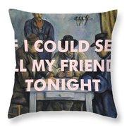 Lcd Soundsystem Lyrics Print Throw Pillow