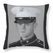 Lcpl Nicholas Anderson Throw Pillow