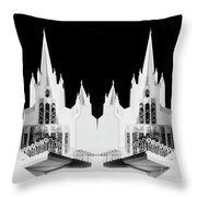 Lds - Twin Towers 1 Throw Pillow