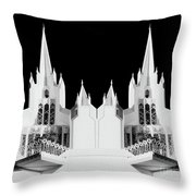 Lds - Twin Towers 2 Throw Pillow
