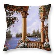 Le Arcate Chiuse Sul Lago Throw Pillow