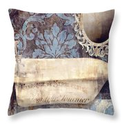 Le Bain Paris Blue Throw Pillow