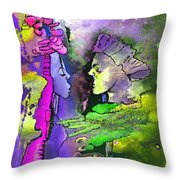 Le Baiser Du Roi Et De La Reine Throw Pillow