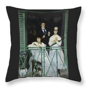 Le Balcon Throw Pillow