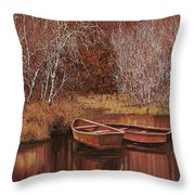 Le Barche Sullo Stagno Throw Pillow