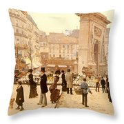 Le Boulevard St Denis - Paris Throw Pillow