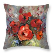 Le Bouquet De Valentine Throw Pillow