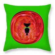 Le Chat Dans Le Rose Transparent Throw Pillow