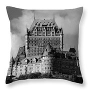 Le Chateau Frontenac - Quebec City Throw Pillow