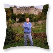 Le Comte De St Simon Throw Pillow