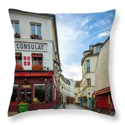 Le Consulat Throw Pillow by Inge Johnsson
