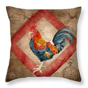 Le Coq - Timeless Rooster  Throw Pillow