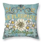 Le Fleuriste De Botanique Throw Pillow