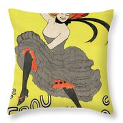 Le Frou Frou Vintage Poster By Leonetto Cappiello, 1899 Throw Pillow
