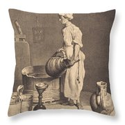 Le Garcon Cabaretier Throw Pillow