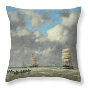 Le Havre, 1883 Throw Pillow