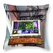 Le Jardin Fine Art Throw Pillow