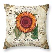 Le Jardin Tournesols  Throw Pillow