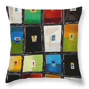 Le Language Des Couleurs Throw Pillow