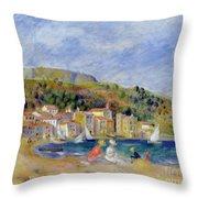 Le Lavandou Throw Pillow by Pierre Auguste Renoir