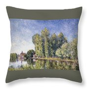 Le Loing A Moret Throw Pillow