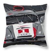 Le Mans Audi R18 Throw Pillow