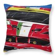 Le Mans Ferrari 458 Throw Pillow