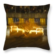 Le Mans On Fire Throw Pillow