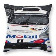 Le Mans Porsche 911 Gt 1995 Throw Pillow