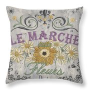 Le Marche Aux Fleurs 1 Throw Pillow