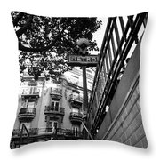 Le Metro From Below Throw Pillow by Kathy Yates
