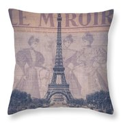 Le Miroir - Paris Throw Pillow