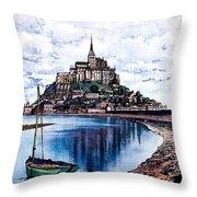 Le Mont, Saint Michel, France Throw Pillow