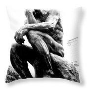 Le Penseur Throw Pillow