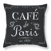 Le Petite Bistro 3 Throw Pillow