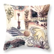 Le Petite Pig Does Fly Throw Pillow