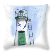 Le Phare Throw Pillow