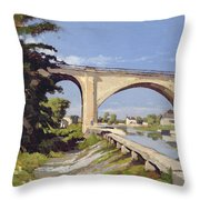 Le Pont Canal A Briare Throw Pillow