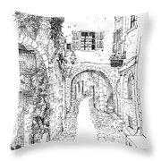 Le Pontis Saint-paul De Vence France Throw Pillow