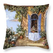 Le Porte Blu Throw Pillow
