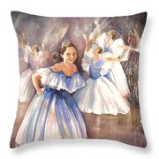 Le Premier Pas Throw Pillow