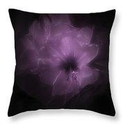 Le Purple Flower Throw Pillow