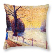 Le Puy In The Snow 1889 Throw Pillow