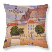 Le Puy The Sunny Plaza 1890 Throw Pillow