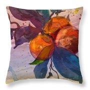 Le Temps Des Oranges Throw Pillow