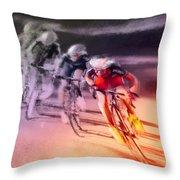 Le Tour De France 13 Throw Pillow