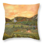 Le Vigne Nel 2010 Throw Pillow by Guido Borelli