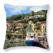 Le West Indies Mall In St. Martin  Throw Pillow