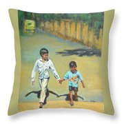 Lead Kindly Brother Throw Pillow