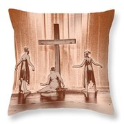 Lead Me To The Cross Throw Pillow